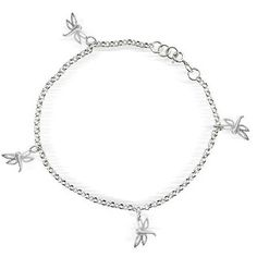 Bling Jewelry 925 Sterling Silver Multi Dragonflies Anklet Ankle Bracelet 10in -- Insider's special review you can't miss. Read more  : Jewelry