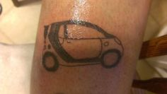 Smart Car Tattoo Everything Is Beautiful In Its Own Way Car Tattoos, Smart Car, Picture Tattoos, Car Pictures, Piercings, Tattoo Designs, Transportation, Bb, Smile