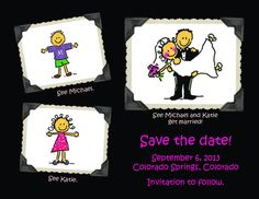 Adorable Save the Date Wedding Announcements by CalistaCalligraphy, $50.00