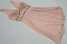 Peach Skater Mini Prom Dress Padded Bust Diamonte DesigFully Lined Size UK 6 8 #Unbranded #Mini #PartyCocktail