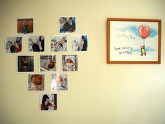 DIY BUMP TO BABY PHOTO WALL | Heart arrangement | Love, Maisie