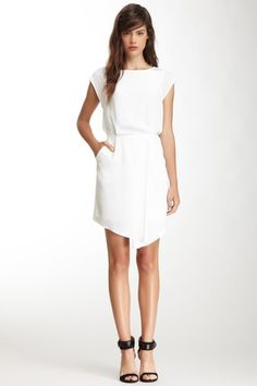 tibi Solid Silk Drape Dress on HauteLook was 385.00 now $159.00