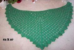 Green with Envy Shawl http://www.crochetville.com/community/topic/151991-my-green-with-envy-shawl-pattern/