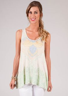 Namaste Sleeveless Tunic Top