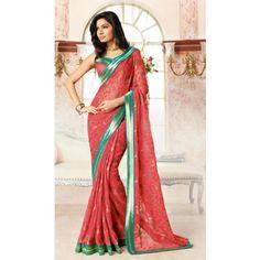 dazzling-red-saree