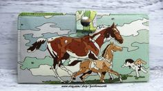 Deer Paint by Number  Handmade Long Wallet  BiFold by FaithOnEarth