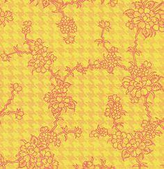 Pattern floral em estilo vintage.  Fonte:Deviantart