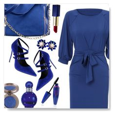 """Blue Style"" by simona-altobelli ❤ liked on Polyvore featuring Nicole Miller, Estée Lauder, Britney Spears and vintage"