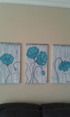Flowers. Painted by Chane Coetzee , 17 years old , residing at Vereeniging , South Africa