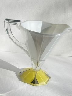 "Indiana Glass ""Moderne Classic"" art deco decoration on the #257 creamer"