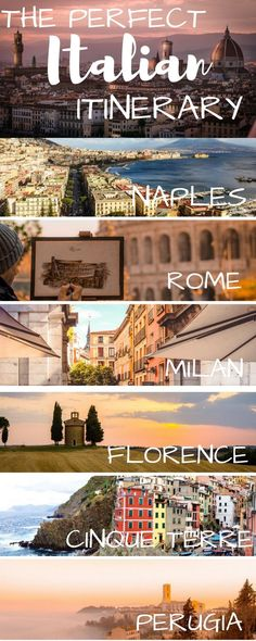 Italy is the perfect country to vacation to. Rome, Florence, Napes, Venice, Cinque Terre, Tuscany, Positano, Amalfi Coast, Lake Como, Siena. All are fabulous places to travel to. Here are tips and suggestions for even a honeymoon in Italy. #travelinitaly