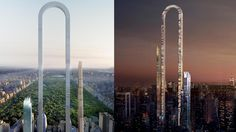 An architectural firm has come up with a bizarre idea for a u-shaped skyscraper in New York City.