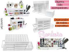 WORLD GIRL - BLOG OFFICIAL: Sorteio: organizador de makes, cosméticos e esmaltes. Corre!