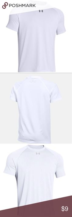 NWT Men's Under Armour Tech S/S Locker T-Shirt 🌟NWT🌟 Men's Under Armour Team Stripe Tech S/S Locker T-Shirt Under Armour Tech Locker T fabric has a soft, more natural feel for comfort. Re-engineered athletic fit. Signature Moisture Transport System wick sweat away to keep you dry and light. Lightweight stretch construction for full range of motion. Anti-microbial technology keeps your gear fresher, longer. Classic ribbed crew neck. 100% polyester. Imported. Under Armour Shirts Tees - Short…