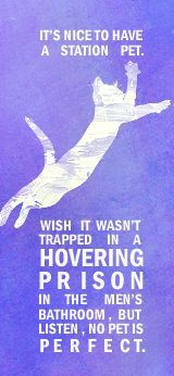 Welcome to Night Vale. My friends and I named the Hovercat Schweben.