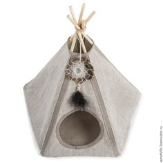 Купить Вигвам для кошек и маленьких собак - серый, вигвам, домик, домик для собаки, домик для кошки