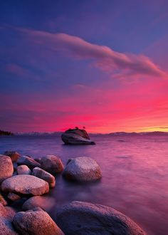 Red and Blue Tahoe Sunset - Lake Tahoe Nevada State Park #SylvanSportSummer2016