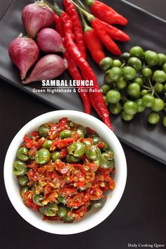 <p>Leunca or green nightshade is very common in Sundanese cuisine where this is one of the many vegetables in a lalapan. It looks like a mini green round eggplant, and it does actually belong to the eggplant family. If served in a lalapan, it is always uncooked. For this sambal …</p>
