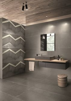 L'H Collection by Viva Recycled varnished wood with scratches and marks left by wear Bathroom Lighting Design, Bathroom Design Luxury, Bathroom Styling, Modern Bathroom, Light Grey Bathrooms, Toilet Tiles Design, Tile Design, Bathroom Sink Vanity, Bathroom Toilets