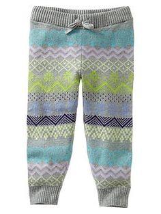 Fair Isle sweater pants