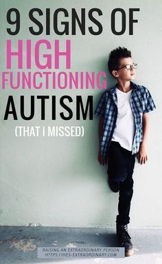 9 Signs of High Functioning Autism, That I Missed - Not all children have the classics symptoms of autism. But after my son was diagnosed I realized there were so many warning signs there that I missed. This is how we personally experienced the signs of h Autism Help, Aspergers Autism, Adhd And Autism, Autism Parenting, Autism Support, Autism Education, Adhd Help, Parenting Advice, Signs Of Aspergers
