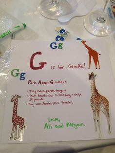 great idea for a baby shower (paper, stickers, & markers= baby's first (and homemade w/ love) ABC book