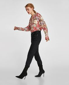 Image 4 of FLORAL PRINT BLOUSE from Zara