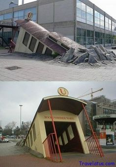 Metro entrance in  Frankfurt, Germany – If I remember it was reconstructed as a club sometime around 2000.