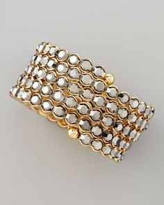 Crystal Spiral Bracelet, Gray by Cara Accessories at Neiman Marcus.