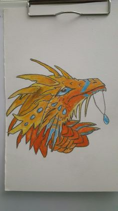 Aquarelle painting dragon