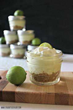 Key Lime Icebox Pie in Jars