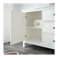 IKEA - HEMNES, Sideboard, white stain, , Solid wood has a natural feel.