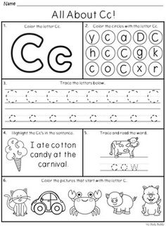 Alphabet Letters A-Z (Kindergarten Alphabet. by My Study Buddy Letter Worksheets For Preschool, Alphabet Tracing Worksheets, Preschool Learning Activities, Preschool Letters, Homeschool Kindergarten, Alphabet Worksheets, Kindergarten Writing, Learning Letters, Kindergarten Worksheets