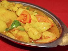 Aloo Gobi:Potato and cauliflower in tomato and ground spice sauce from Anarbagh Restaurant in Ventura Blvd, Encino #Food #Aloo #Restaurant forked.com