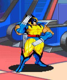 Wolverine in X-Men vs. Wolverine Comics, Marvel Dc Comics, Street Fighter Arcade, X Men Marvel, Marvel Gif, X Men Funny, Joker Art, Only Play, Marvel Comic Character