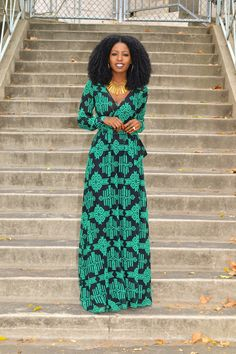 Shoxie Geo Print Faux Wrap Maxi - Style Pantry - Your fashion, culture and lifestyle stockist --