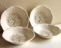 Set of Cottage Style Vintage Bowls