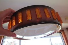 Vintage Mid Century Modern Saucer UFO Ceiling Light Fixture Cover by AdoredAnew on Etsy