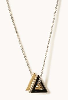 Triangle Charm Necklace | FOREVER21 - 1077785737