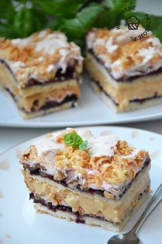 HIT for all kinds of holidays and family events. Fruit Recipes, Sweet Recipes, Baking Recipes, Cookie Recipes, Dessert Recipes, Dessert Bars, Kolaci I Torte, Polish Recipes, Food Cakes