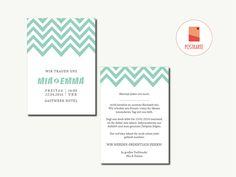 Hochzeitseinladung   Wedding Invitation   #10 von HEYDAY Kartendesign auf DaWanda.com