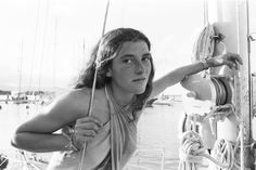 In November 1978, Florence Arthaud at the start of his first route du Rhum.