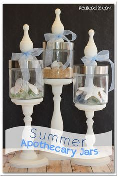Summer Apothecary Jars via @KC Coake: The Real Thing with the Coake Family