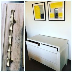 Picking new pulls for this newly lacquered in creamy white raffia with Asian inspired design dresser / chest of drawers. Going with a polished brass bamboo in keeping with the Asian feel! Modern Furniture, Furniture Design, Creamy White, Polished Brass, Chest Of Drawers, Chinoiserie, Midcentury Modern, Bamboo, Dresser