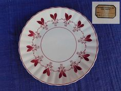 Berkshire LUNCHEON PLATE Blue Ridge Southern Pottery - AS-IS have more B Ridge #BlueRidgeSouthernPottery