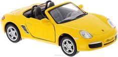Kinsmart Модель автомобиля Porsche Boxster S цвет желтый
