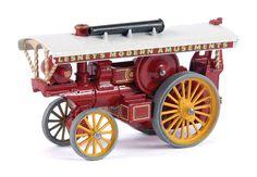 "Matchbox Models of Yesteryear No.Y9-1 Fowler Showman's Engine ""Lesneys Modern Amusements""."