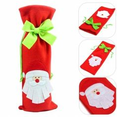 Santa Claus Wine Bottle Cover Bag Christmas Red Wine Bags Dinner Party Decoration en Banggood