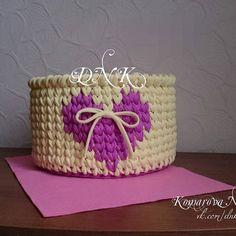 Корзинка для шампунек и кремиков.  Сделана для новорожденной принцесы.  #dnk_корзины #dnklab #корзинадлямелочей #длядетей #вязанаякорзина #подарокручнойработы #подарокнаденьвлюблённых  #назаказ