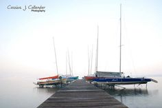 Stone Bridge Park Pier, Madison, Wisconsin - by Cassius Callender